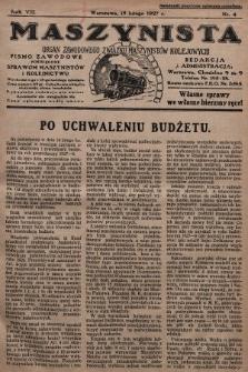 Maszynista : organ Zawodowego Związku Maszynistów Kolejowych : pismo zawodowe poświęcone sprawom maszynistów i kolejnictwu. 1927, nr4