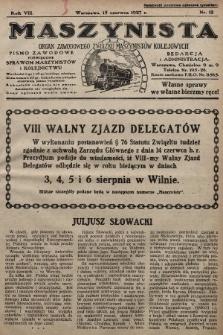 Maszynista : organ Zawodowego Związku Maszynistów Kolejowych : pismo zawodowe poświęcone sprawom maszynistów i kolejnictwu. 1927, nr12