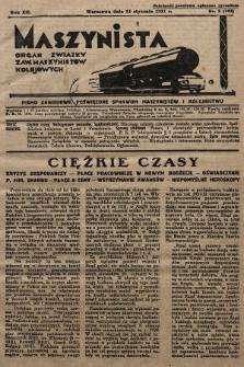 Maszynista : organ Związku Zaw. Maszynistów Kolejowych. 1931, nr2