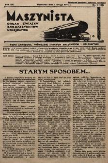 Maszynista : organ Związku Zaw. Maszynistów Kolejowych. 1931, nr4