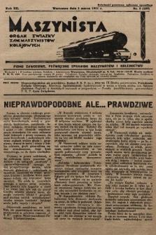 Maszynista : organ Związku Zaw. Maszynistów Kolejowych. 1931, nr5
