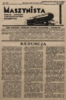Maszynista : organ Związku Zaw. Maszynistów Kolejowych. 1931, nr6