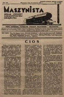 Maszynista : organ Związku Zaw. Maszynistów Kolejowych. 1931, nr8