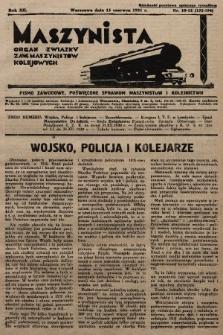 Maszynista : organ Związku Zaw. Maszynistów Kolejowych. 1931, nr10-12