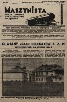 Maszynista : organ Związku Zaw. Maszynistów Kolejowych. 1931, nr15