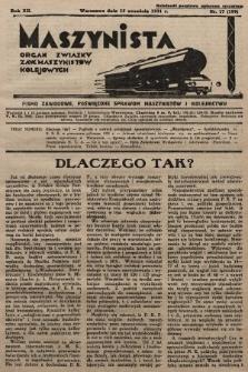 Maszynista : organ Związku Zaw. Maszynistów Kolejowych. 1931, nr17