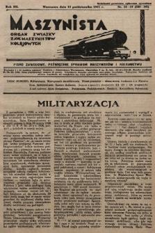 Maszynista : organ Związku Zaw. Maszynistów Kolejowych. 1931, nr18-19