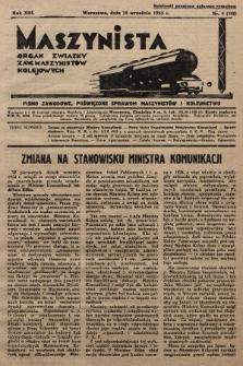Maszynista : organ Związku Zaw. Maszynistów Kolejowych. 1932, nr9