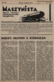 Maszynista : organ Związku Zaw. Maszynistów Kolejowych. 1935, nr9