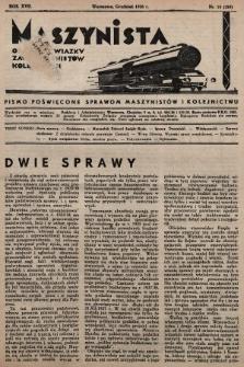 Maszynista : organ Związku Zaw. Maszynistów Kolejowych. 1936, nr10