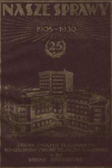 Nasze Sprawy : organ Związku Pracowników Powszechnego Zakładu Ubezpieczeń Wzajemnych. 1930, nr10-11