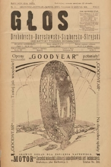 Głos Drohobycko-Borysławsko-Samborsko-Stryjski : bezpłatny tygodnik informacyjny. 1929, nr11