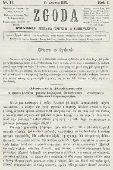 Zgoda : pismo dla wsi i miasta. 1875, nr11