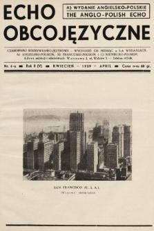 Echo Obcojęzyczne = The Anglo-Polish Echo : czasopismo rozrywkowo-językowe. 1939, nr4 A