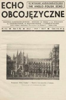 Echo Obcojęzyczne = The Anglo-Polish Echo : czasopismo rozrywkowo-językowe. 1939, nr5 A
