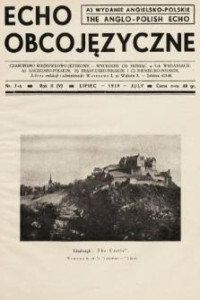 Echo Obcojęzyczne = The Anglo-Polish Echo : czasopismo rozrywkowo-językowe. 1939, nr7 A