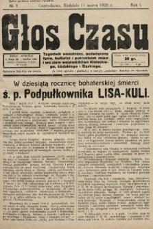 Głos Czasu : tygodnik niezależny , poświęcony życiu, kulturze i potrzebom miast i wsi ziem województwa kieleckiego, łódzkiego i śląskiego. 1928, nr7