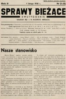Sprawy Bieżące : dwutygodnik.1938, nr3