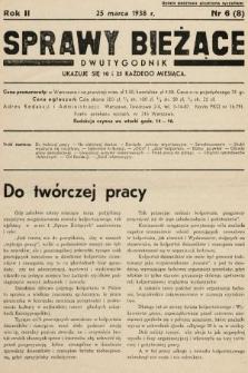 Sprawy Bieżące : dwutygodnik.1938, nr6