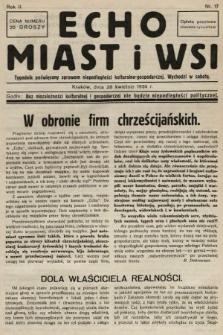 Echo Miast i Wsi : tygodnik poświęcony sprawom niepodległości kulturalno-gospodarczej. 1934, nr17