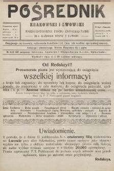 Pośrednik Krakowski i Lwowski : wszechstronne pismo informacyjne dla każdego stanu i zawodu. 1907, nr20