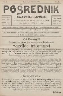 Pośrednik Krakowski i Lwowski : wszechstronne pismo informacyjne dla każdego stanu i zawodu. 1907, nr21