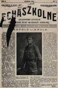 Echa Szkolne : czasopismo Czytelni poświęcone życiu młodzieży szkolnej. 1932, nr1