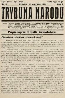 Trybuna Narodu. 1926, nr3