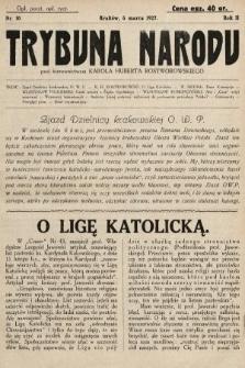 Trybuna Narodu. 1927, nr10