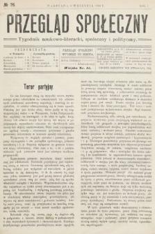 Przegląd Społeczny : tygodnik naukowo-literacki, społeczny i polityczny. 1906, nr26