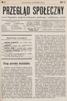 Przegląd Społeczny : tygodnik naukowo-literacki, społeczny i polityczny. 1907, nr4
