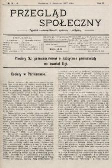 Przegląd Społeczny : tygodnik naukowo-literacki, społeczny i polityczny. 1907, nr13