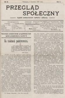 Przegląd Społeczny : tygodnik naukowo-literacki, społeczny i polityczny. 1907, nr23