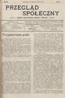Przegląd Społeczny : tygodnik naukowo-literacki, społeczny i polityczny. 1907, nr35