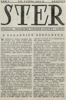 Ster : tygodnik poświęcony sprawom państwa i narodu. 1926, nr9