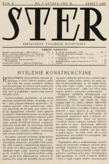 Ster : niezależny tygodnik polityczny. 1927, nr6