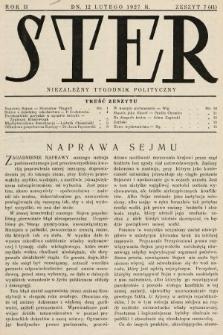Ster : niezależny tygodnik polityczny. 1927, nr7
