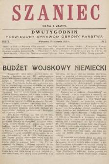 Szaniec : dwutygodnik poświęcony sprawom obrony Państwa. 1928, nr2