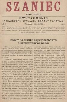 Szaniec : dwutygodnik poświęcony sprawom obrony Państwa. 1928, nr21