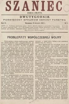 Szaniec : dwutygodnik poświęcony sprawom obrony Państwa. 1929, nr1