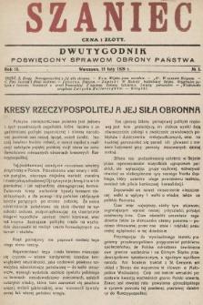 Szaniec : dwutygodnik poświęcony sprawom obrony Państwa. 1929, nr3