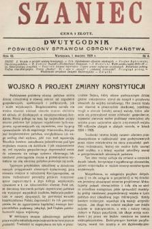 Szaniec : dwutygodnik poświęcony sprawom obrony Państwa. 1929, nr4