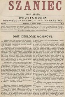 Szaniec : dwutygodnik poświęcony sprawom obrony Państwa. 1929, nr5