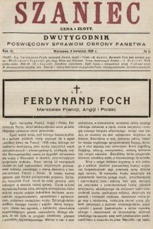 Szaniec : dwutygodnik poświęcony sprawom obrony Państwa. 1929, nr6