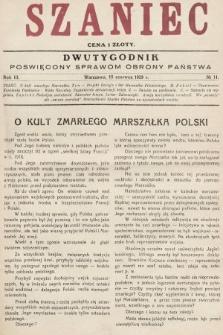 Szaniec : dwutygodnik poświęcony sprawom obrony Państwa. 1929, nr11