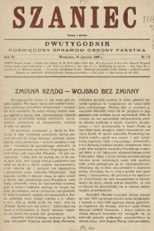 Szaniec : dwutygodnik poświęcony sprawom obrony Państwa. 1930, nr1-2