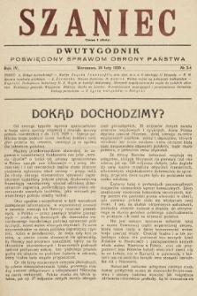 Szaniec : dwutygodnik poświęcony sprawom obrony Państwa. 1930, nr3-4