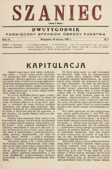 Szaniec : dwutygodnik poświęcony sprawom obrony Państwa. 1930, nr5