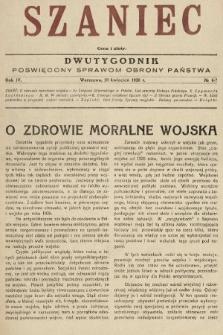 Szaniec : dwutygodnik poświęcony sprawom obrony Państwa. 1930, nr6-7