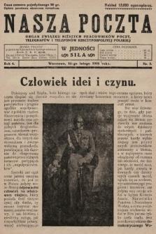 Nasza Poczta : organ Związku Niższych Pracowników Poczt, Telegrafów i Telefonów Rzeczypospolitej Polski[!]. 1928, nr3